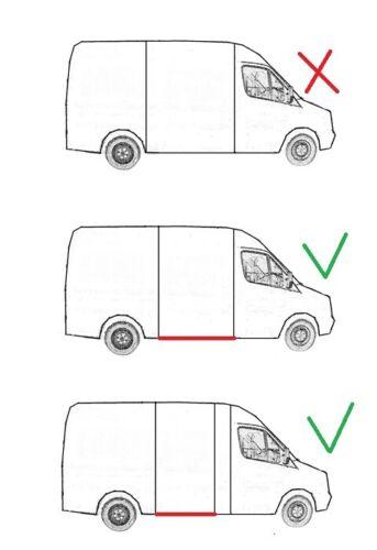 D/'entrée Seuil pour Ford Transit 05.00-04.13 droit//Longueur 1430 mm
