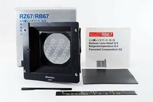 Nuovo-di-zecca-con-scatola-MAMIYA-Soffietto-Paraluce-G-3-G3-per-RZ67-RB67-DAL-GIAPPONE-630099