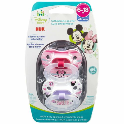 Minnie Colors and Styles NUK Disney Baby Puller Pacifier in Mickey 6-18 Months