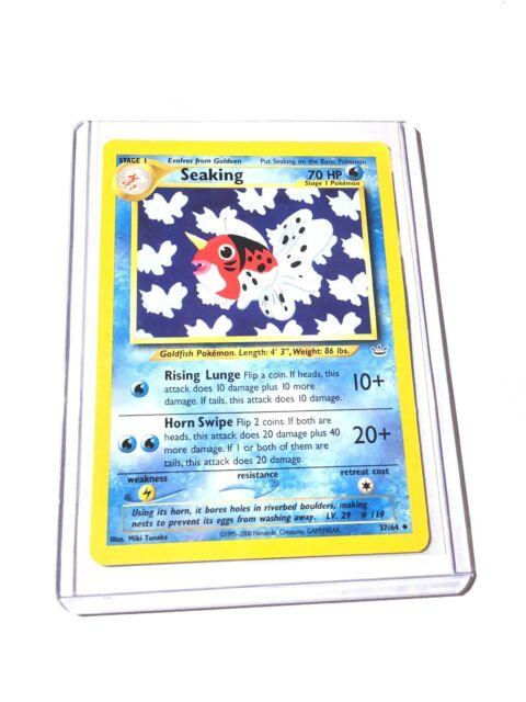 Seaking Uncommon Pokemon Card Neo Revelation 37//64 LP-EXC