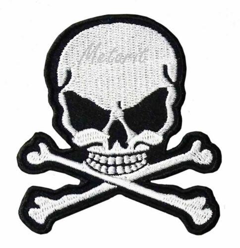 DEAD HEAD Iron On Patch SKULL Adhesif Aufbügler Ecusson Applique Devil Evil