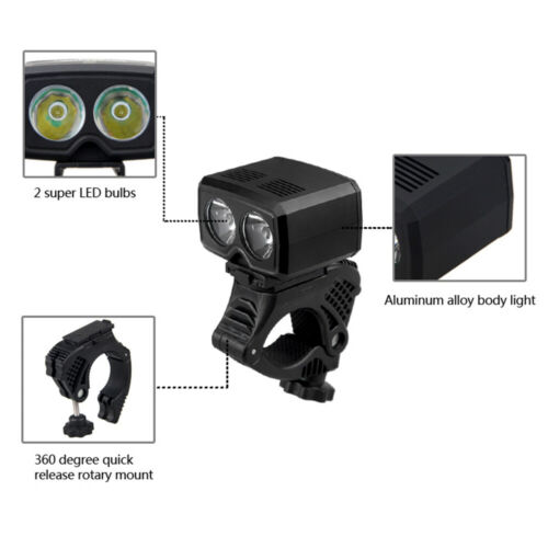 Rechargeable 5000LM MTB Bicycle LED Front Light USB Headlight Bike Cycling Lamp