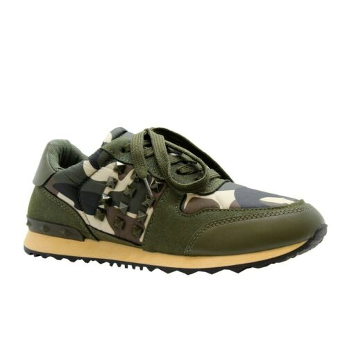 Ladies Women Platform Chunky Camouflage Stud Sneaker Running Trainers Shoes Size