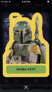 Topps Star Wars Digital Card Trader Blue Sticker Art 3 Luke Insert Award