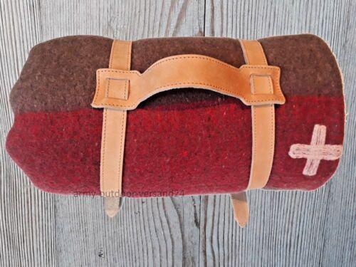 Original agarraron suizo ejército manta de caballo con alta calidad correa de piel nuevo