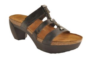 Naot-Bond-Womens-Sandals-Brown-Leather-Comfort-Platform-Heel-Sz-39-8-8-5-M-165
