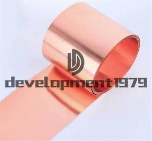 1pcs 99.9/% Pure Copper Cu Metal Sheet Foil 0.1 x 200 x 1000 mm