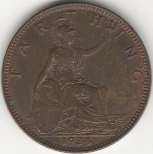 1934 George V Farthing   Pennies2Pounds