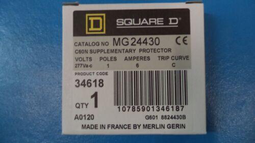 SQUARE D CIRCUIT BREAKER MG24430 6A 277V 1 POLE