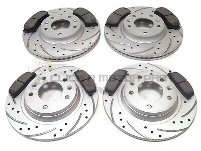 Mazda RX8 323mm Front Rear Drilled Grooved Black EditioBrake Discs /& Mintex Pads