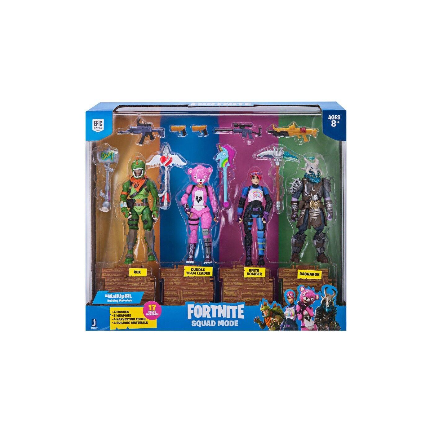 Modo de escuadrón de fortnite figuras de acción 4 Pack Nuevo