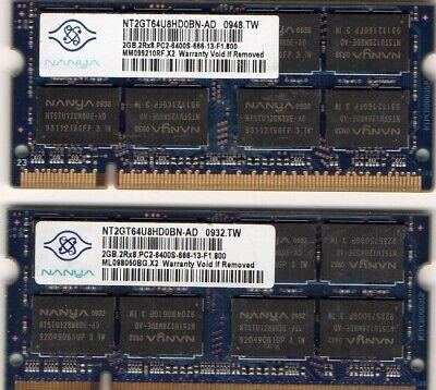 HP EliteBook 2530p 2730p 6930p 8530p 8530w 8730w Laptop Memory 2x 2GB Kit 4GB