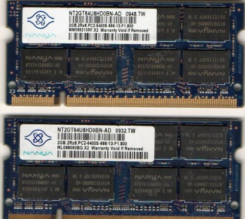 4GB HP EliteBook 2530p 2730p 6930p 8530p 8530w 8730w Laptop Memory 2x 2GB Kit