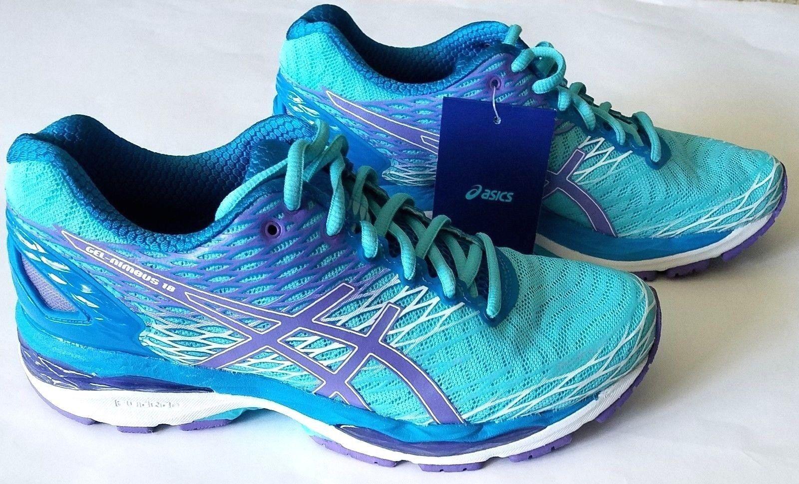 Asics Gel-Nimbus 18 Women shoes Turquoise Iris Methyl bluee T650N Size 6, 7