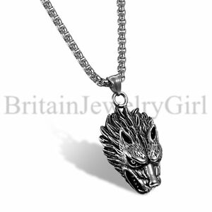 24-034-Viking-Stainless-Steel-Wolf-Head-Werewolf-Punk-Pendant-Necklace-for-Men-Boys
