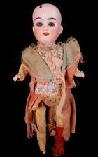 "Antique 10"" Cabinet Bisque Glass Eye Doll Swivel Head DEP Composition"