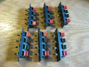 Lot-of-6-Speaker-Wire-Terminal-Jacks-Stereo-Audio-Amplifier-Used-Pulls