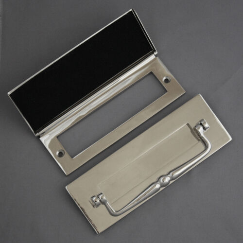 Traditional Nickel Letterbox Clapper /& Tidy