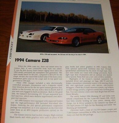 CHEVROLET 1994 Camaro /& /'94 PONTIAC Firebird Shop Manual CD