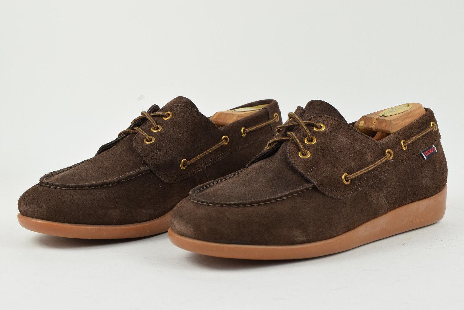 Sebago Jobson Docksides Boat Dark Brown shoes UK 9.5 W