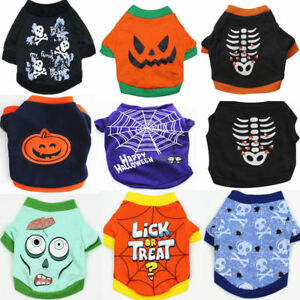 Pet-Dog-Costume-Halloween-Skull-Pumpkin-Witch-Clothes-Coat-Vest-T-shirt-Apparel