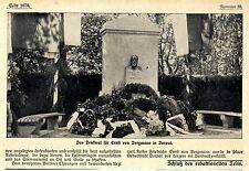 Das Denkmal für den Berliner Chirurgen Ernst von Bergmann in Dorpat 1913