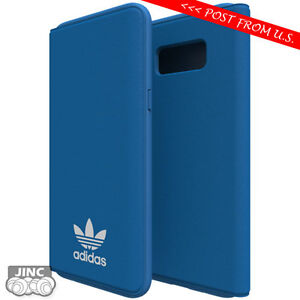 more photos 2a2a0 72ed6 Details about Original Genuine ADIDAS Samsung Galaxy SM-G950 G955 S8+ PLUS  Booklet Case Cover