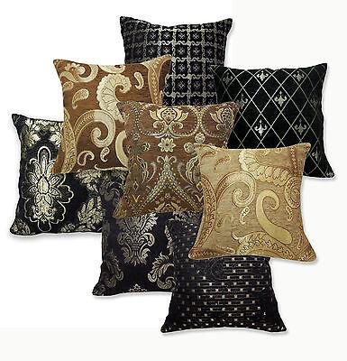 Damask Paisley Checker Pattern Cotton Blend Cushion Cover/Pillow Case Custom Sz