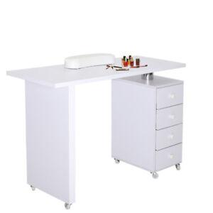 Pedicure Manicure Table Salon Workstation Nails Care Desks Wrist ...