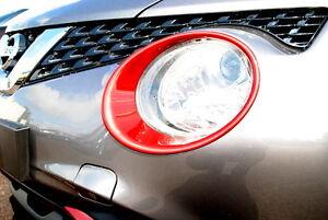 Nissan-Juke-2014-cabeza-de-la-lampara-luz-envolvente-Adornos-vigor-Genuino-Rojo-ke610bv260rd