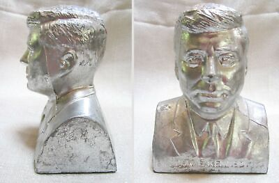 """Details about  /President Dwight Ike Eisenhower bust paper weight sanded alum 5-1//2/"""" tall USA"""