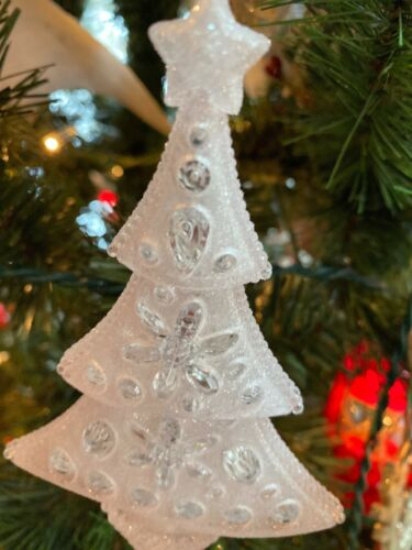 """B Details about  /New Kurt Adler 5.25/"""" Tree With Pink Glitter Christmas Ornament"""