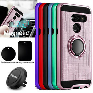 For-LG-G8-ThinQ-Shockproof-Case-With-Ring-Holder-Stand-Magnetic-Air-Vent-Mount
