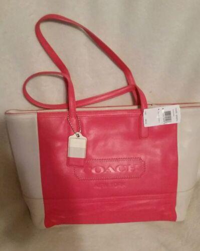 PinkPerkament Nwt draagtas Legacy Weekend Coach 23469 lederen Colorblock D92IbeEWYH