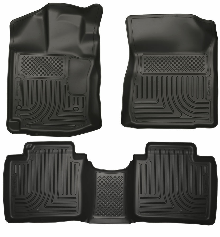 UAA Custom-fit Black Carpet Truck Floor Mats Set for Ford F150 2012-2014