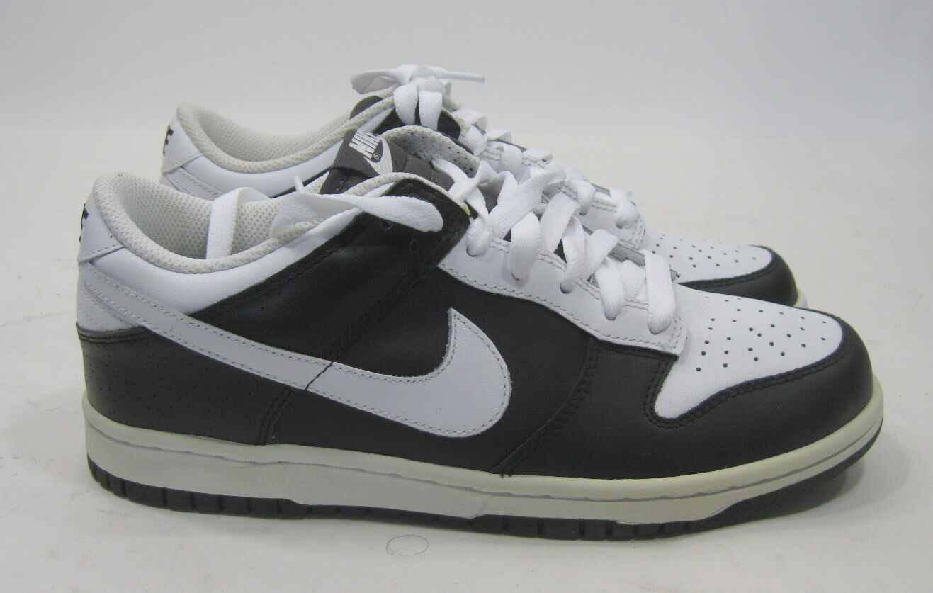 new 2009 Nike Dunk Low Leather 2009 new Black White 318019 101 Size 7.5 0b32f0