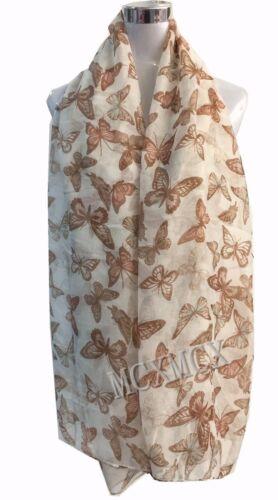 Women Ladies Long  New Butterfly Print Pattern Shawl Scarf  Warp Stole