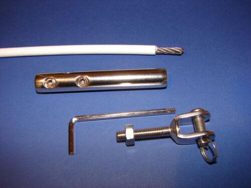 Meterware Relingsdraht Relingdraht  Reling Draht 4mm oder Terminal mit Gabel neu
