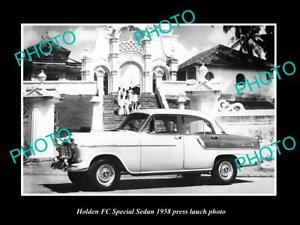 OLD-POSTCARD-SIZE-PHOTO-OF-GMH-1958-FC-HOLDEN-SPECIAL-LAUNCH-PRESS-PHOTO