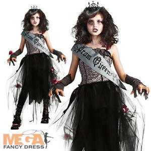 Image Is Loading Goth Prom Queen Zombie Girls Halloween Fancy Dress