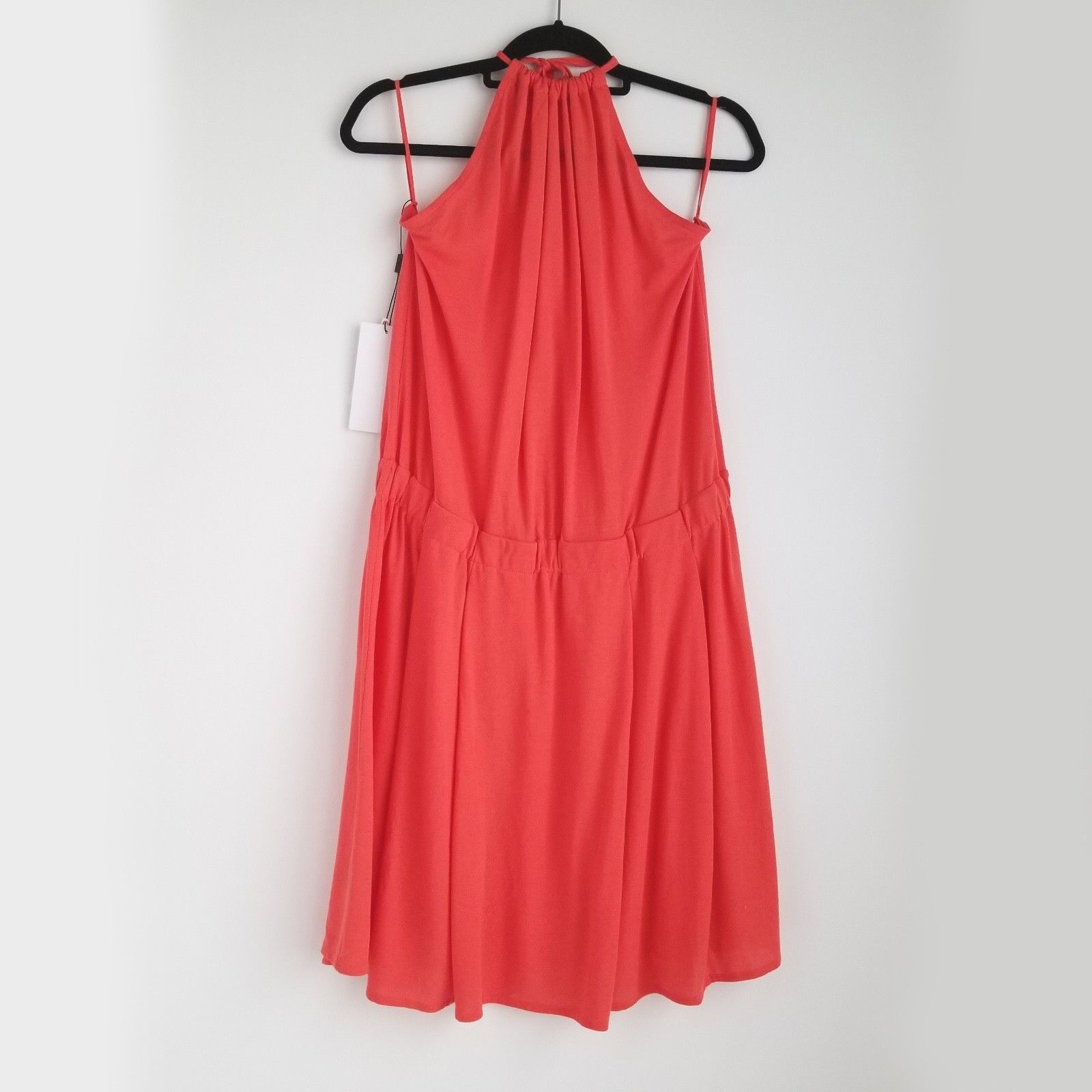Lacoste Halter Dress damen 12 Goyave Coral Elastic Waist - Brand New w  Tag