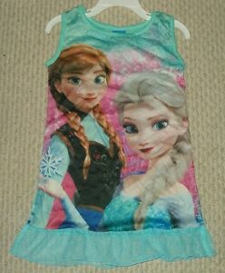 Disney-Frozen-Anna-amp-Elsa-Nightgown-Pajamas-Size-4T-6T-8T-10T-New