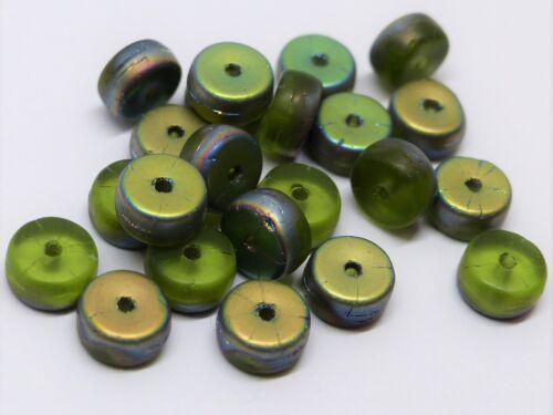 6 30PCS mm de cristal checo Plana Redonda//Disco//Rondelle espaciador granos//-
