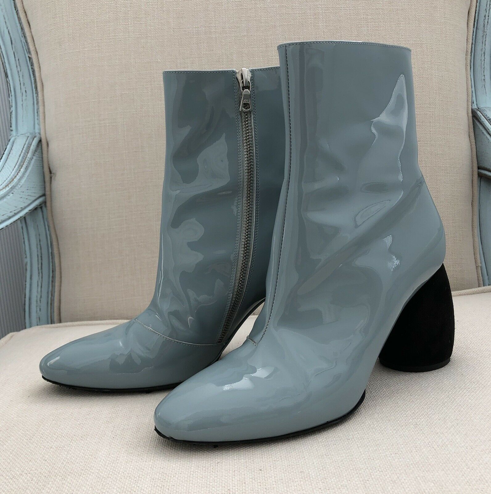 Dries van noten Leather Ankle Boots, Size 39