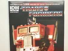 TRANSFORMERS The Death of OPTIMUS PRIME # 1 Cover A ~Toy Photo VARIANT 2011 RARE
