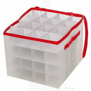 image is loading 64 xmas bauble holder christmas tree decorations plastic - Christmas Decoration Storage Box