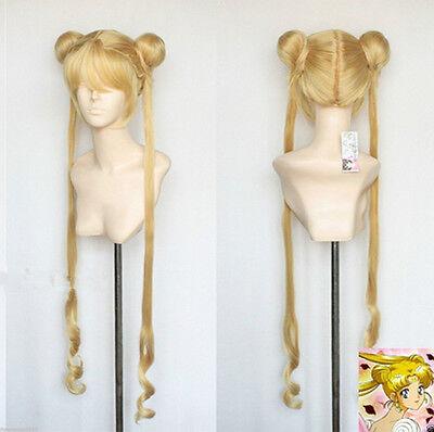Hot sell! new Mixed golden Sailor Moon Tsukino Usagi cosplay Party wig
