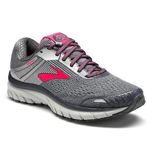 ae270c92eb3f3 Brooks Adrenaline GTS 18 Women s Ebony Silver Pink Running Shoe ...