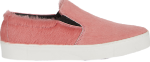 $428 size 41 US 10.5 Collection Privee Pink Pony Hair Slip On Womens Sneakers