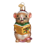 Old-World-Christmas-CAROLING-MOUSE-BROWN-12427-N-Glass-Ornament-w-OWC-Box thumbnail 1